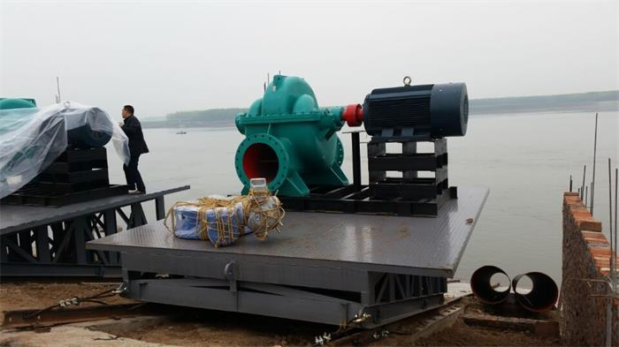 Jingzhou in South-to-North Water Transfer with the OS axially split pump run well