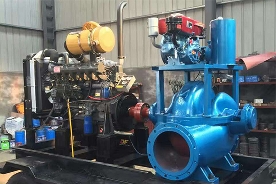 SN type horizontal double suction axially split diesel engine pump