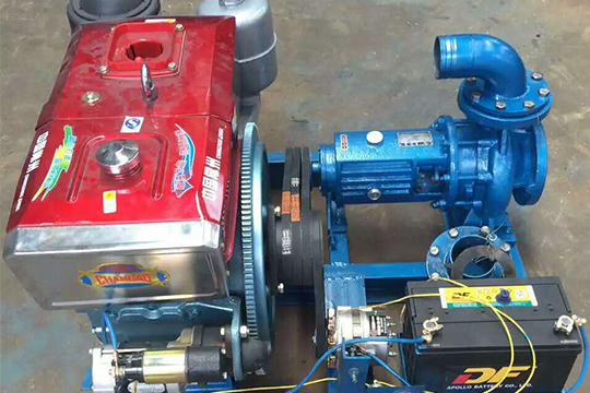 Stationary horizontal diesel engine centrifugal pump