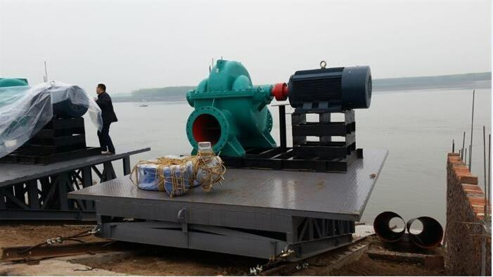 Three Gorges project with the OS series split volute centrifugal pump running well