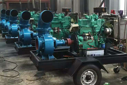 HW mixed flow volute diesel engine pump