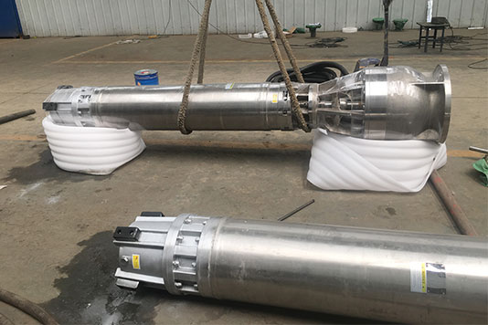 Seawater submersible pumps
