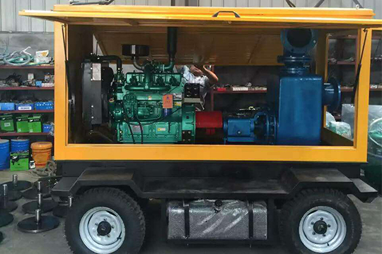 self-priming diesel engine pump unit